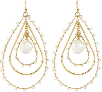 Gas Bijoux Bo Orphee Beaded Drop Earrings