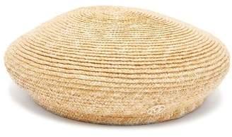 Maison Michel New Bonnie Straw Beret Hat - Womens - Beige