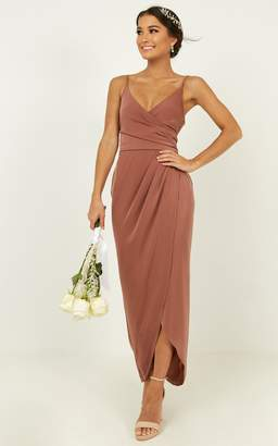 Showpo How will I know dress in dusty rose - 18 (XXXL) Bridesmaid