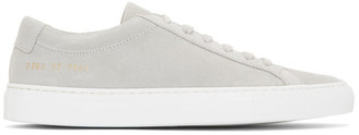 Common Projects Woman By Woman by Grey Suede Achilles Low Sneakers