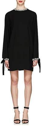 Prada Women's Jeweled Tech-Cady Cocktail Dress - Black