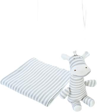 Under the Nile 2-Piece Stripe Swaddle Blanket & Stuffed Animal Set
