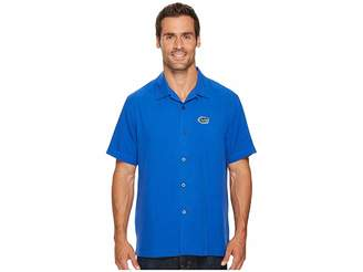 Tommy Bahama Florida Gators Collegiate Series Catalina Twill Shirt Men's Short Sleeve Button Up