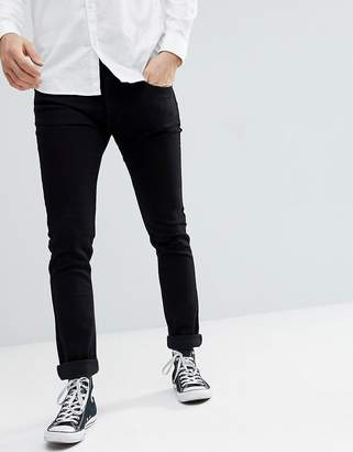 Lee Jeans Luke slim tapered jeans in black rinse