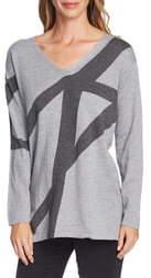 Vince Camuto Diagonal Stripe Colorblock Pullover