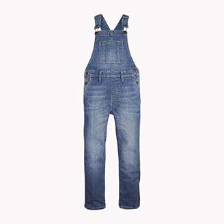Tommy Hilfiger Baby Unisex Dungaree Vabrst Jeans, (Varsity Blue Repair Stretch 911)