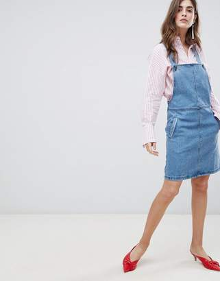 Gestuz Margaret Denim Pinafore Dress