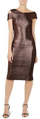 Ted Baker Maggz Metallic Body-Con Dress