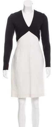 Emilio Pucci Long Sleeve Knee-Length Dress