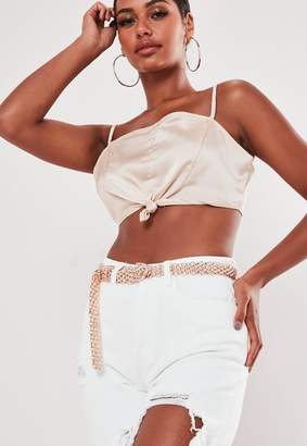 Missguided Rose Gold Look Chain Belt