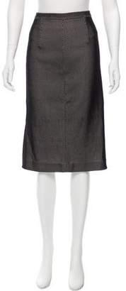 Tamara Mellon Mesh Pencil Skirt