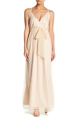 TOV Metallic Maxi Dress