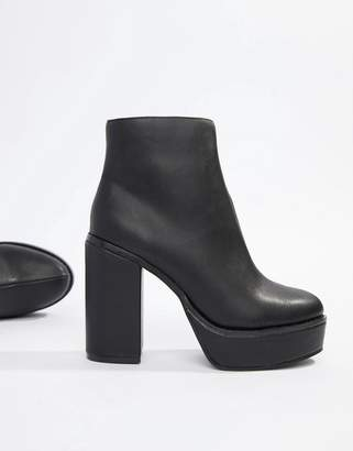 London Rebel Platform Ankle Boots