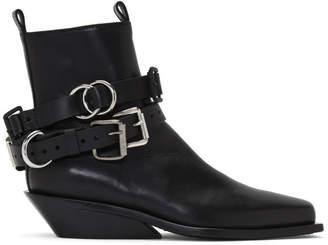 Ann Demeulemeester Black Belt Tucson 1 Piece Boots