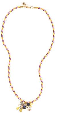 J.Crew Girls' corded gem cluster necklace