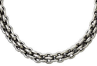 "Steel by Design Stainless Steel 18"" Round Link Chain Necklace"