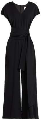 Weekend Max Mara - Narsete Crepe Jumpsuit - Womens - Black