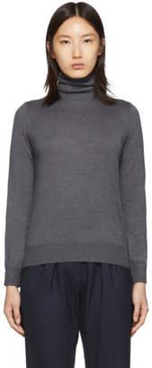 A.P.C. Grey Merino Wool Sandra Turtleneck