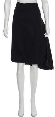 CHRISTOPHER ESBER Wool Knee-Length Skirt