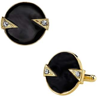 1928 Art Deco Circle Cuff Links