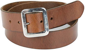 "A Leather Studio Light Brown Leather Belt ""Simple"""
