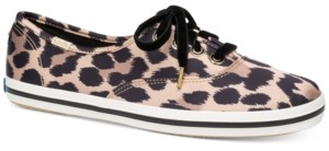 Kate Spade Keds for Champion Leopard Satin Sneakers
