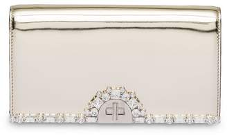 Prada Metallic leather clutch bag