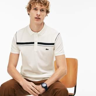 Lacoste Men's Regular Fit Contrast Pique Polo