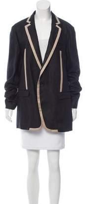 Dolce & Gabbana Two-Tone Linen Blazer w/ Tags