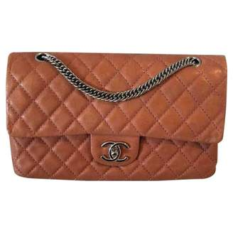 Chanel Timeless/Classique Orange Leather Handbags