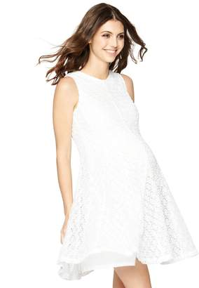 A Pea in the Pod Taylor Eyelet Lace Maternity Dress