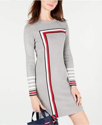 Tommy Hilfiger Racing Stripe Sweater Dress
