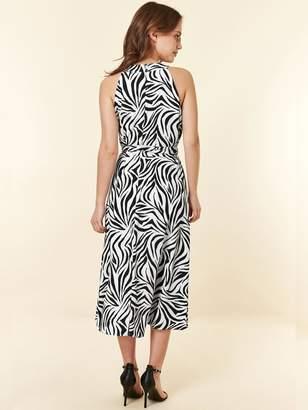 Wallis Petite Monochrome Zebra Dress - Black/White