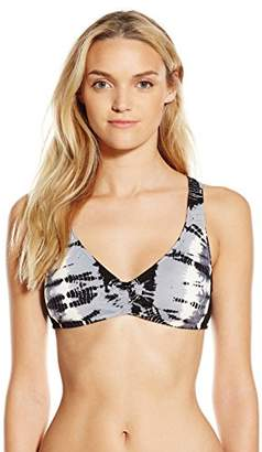 Lucky Brand Women's Half-Moon Tie-Dye Ladder-Back Bikini Top with Removable Cups $72 thestylecure.com