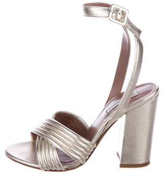 Tabitha Simmons Metallic Leather Sandals