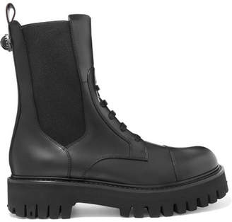 Dolce & Gabbana Leather Combat Boots - Black
