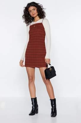 Nasty Gal Just a Check Mini Dress