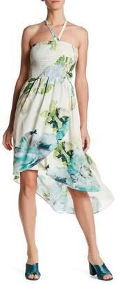 Bobeau Floral Smocked Halter Dress $82 thestylecure.com