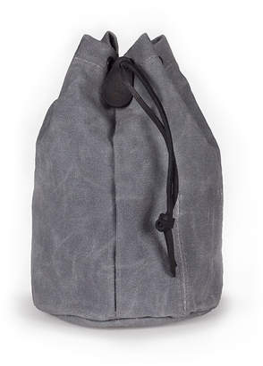 Winter Session Waxed Canvas Leather Drawstring Pouch