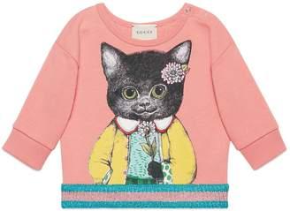 Gucci Kitten Graphic Cotton Sweatshirt