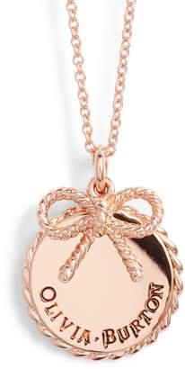 Olivia Burton Coin Bow Pendant Necklace