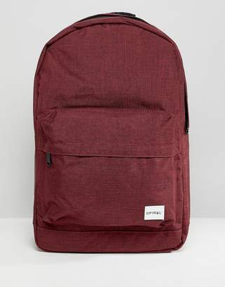 Spiral Backpack in Burgundy Crosshatch