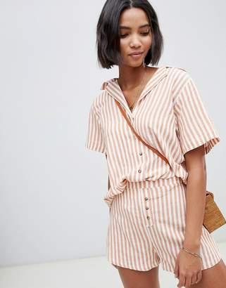 Zulu & Zephyr beach shirt in stripe