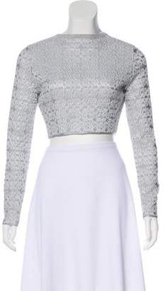 Alaia Textured Cropped Cardigan