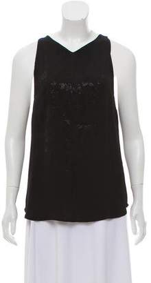 A.L.C. Beaded Sleeveless Blouse