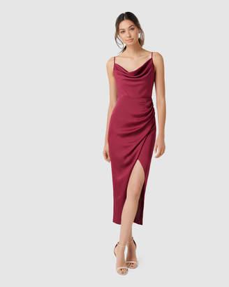 Forever New Holly Cowl Neck Midi Dress