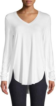 Lord & Taylor Easy Long-Sleeve V-Neck Tee