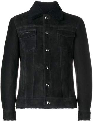 Philipp Plein raw edge shirt jacket