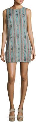 Alice + Olivia Clyde Embellished Sleeveless Shift Dress, Green