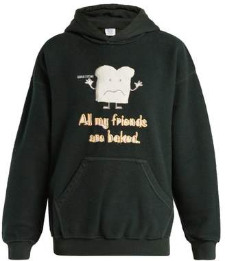 Vetements All My Friends Are Baked Cotton Blend Sweatshirt - Womens - Green